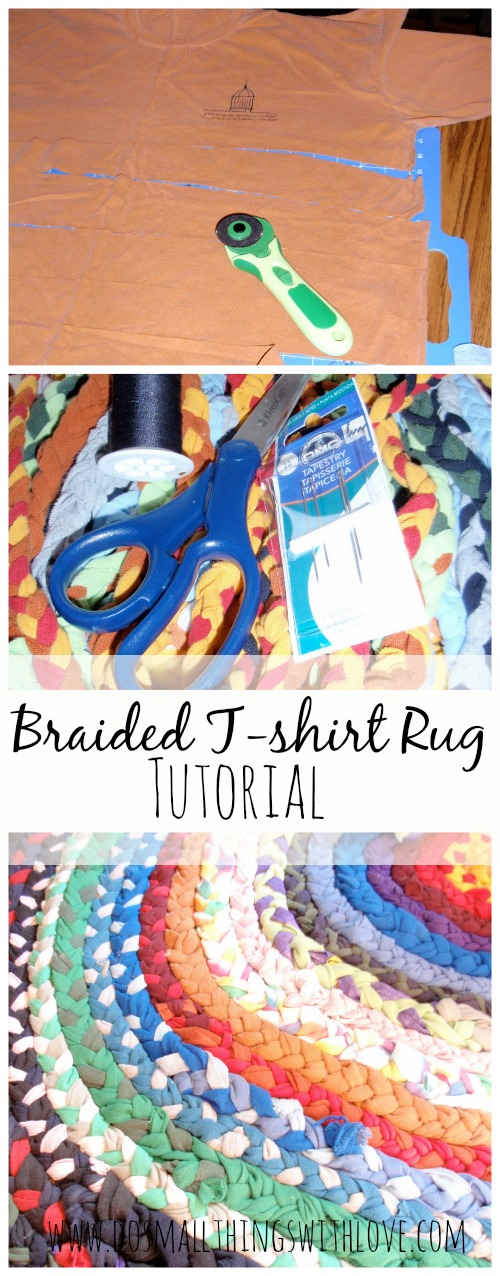 Braided T Shirt Rug Tutorial From Www Dosmallthingswithlove Com
