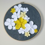Felt and Denim Hoop Art
