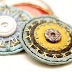 Embroidered Felt Pendants