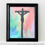 crucifixion watercolor