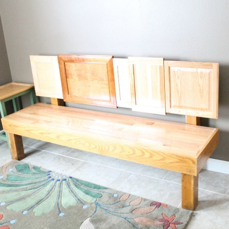DIY Cabinet Door Bench