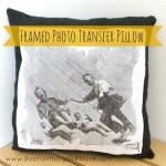 photo transfer pillow