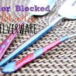 color blocked silverware