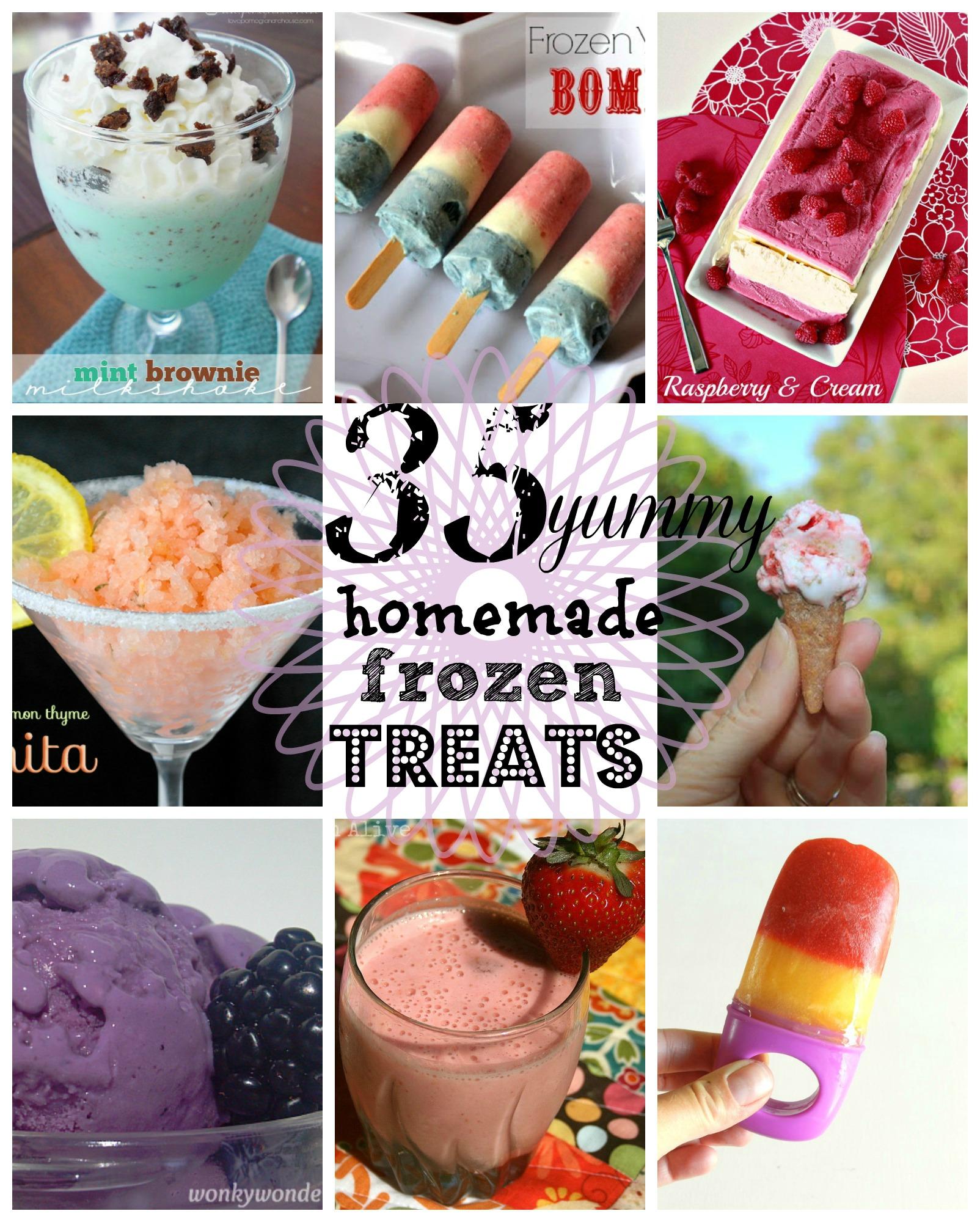 frozen treats collage