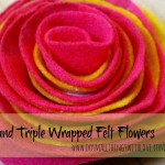 wrapped felt flower
