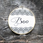 Boo Halloween Embroidery Art