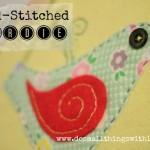 Hand-stitched birdie