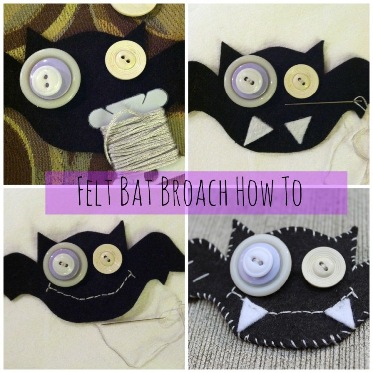 felt bat brooch tutorial