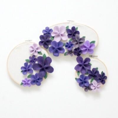 Felt Flower Collage