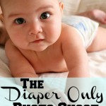 diaper only photo shoot