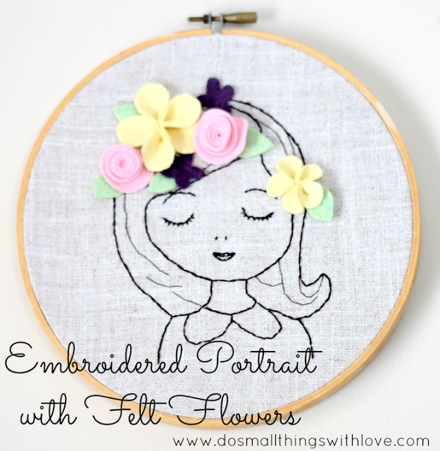 DIY Embroidered Portrait… Love this! #christmas #crafts #gifts