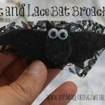 felt and lace bat broach