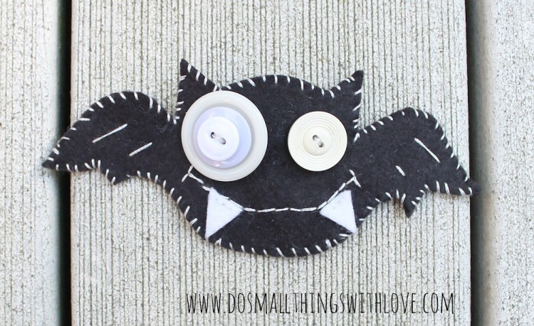 felt bat brooch