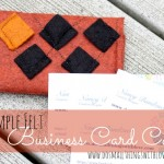 felt business card case