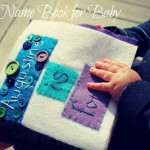 felt name book for baby