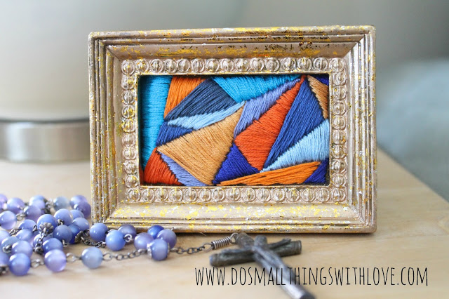 framed satin stitch