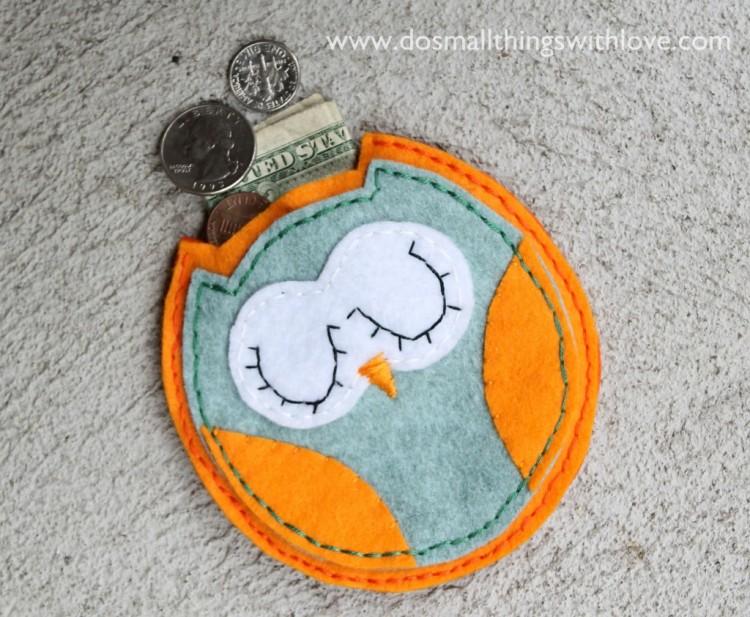 owl pouch felt