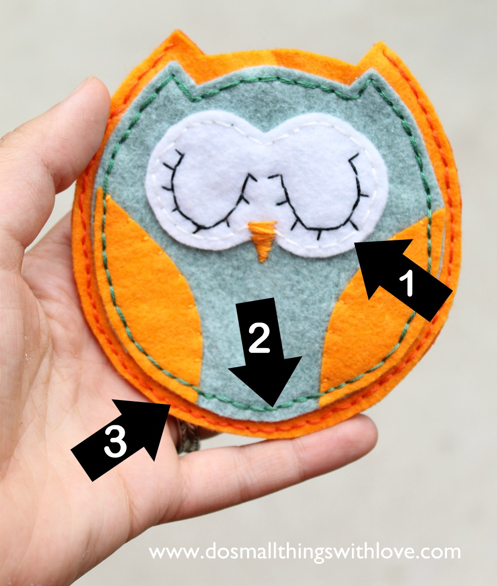 felt owl pouch free template u2013 do small things with love