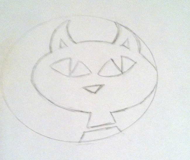 Scary Kitty Drawing