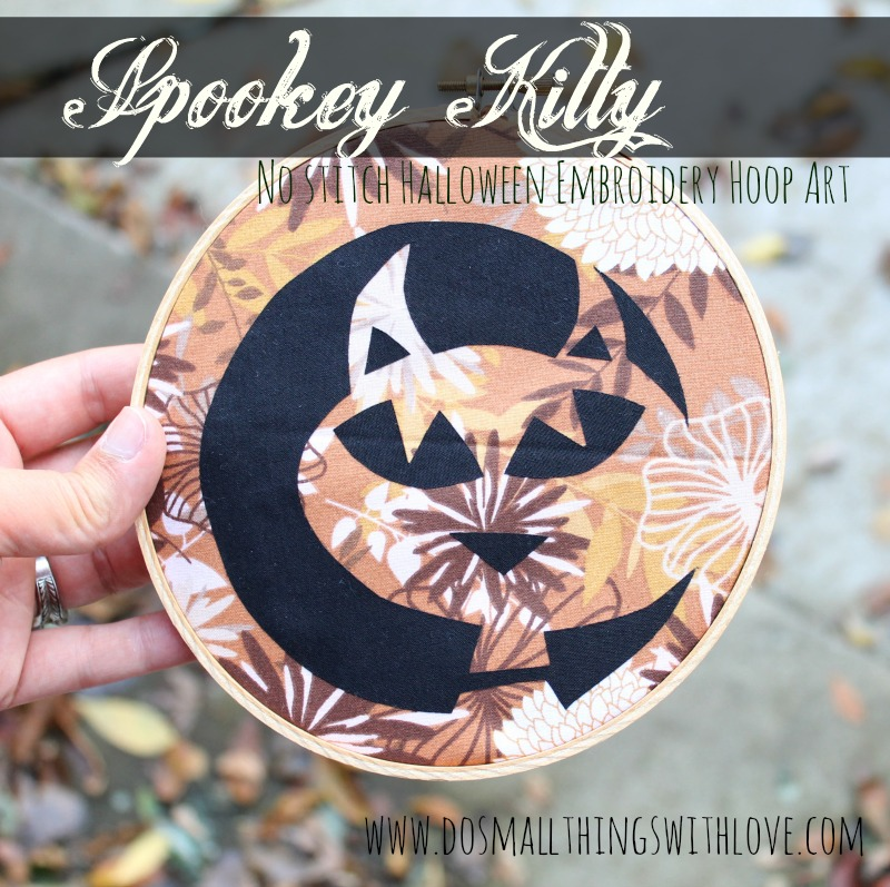 Spooky Kitty Embroidery Hoop Art