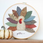 Turkey Embroidery hoop art 3