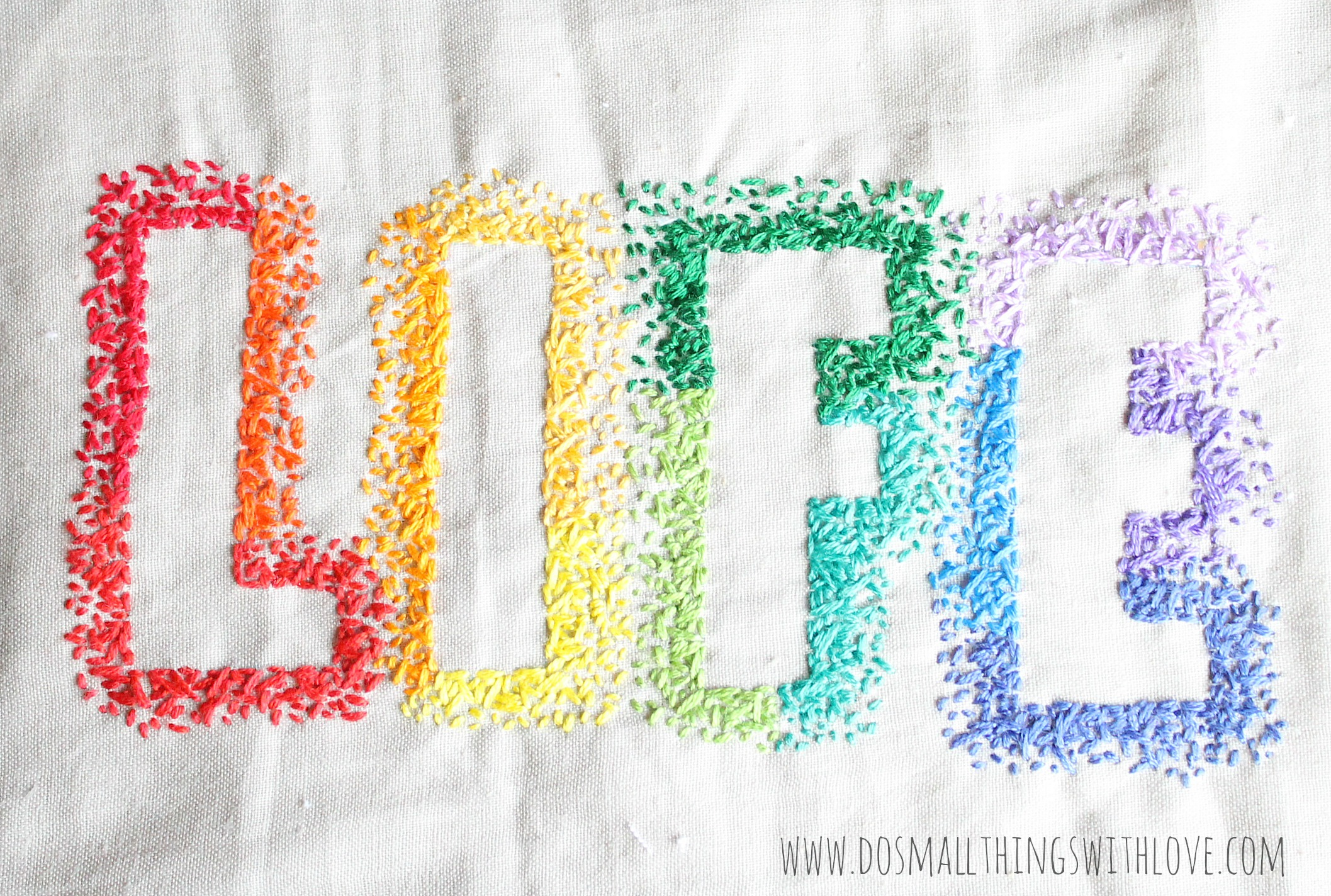 Pro life embroidery confetti stitch do small things