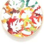 fall leaf embroidery hoop