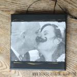 DIY Wedding Photo transfer to canvas