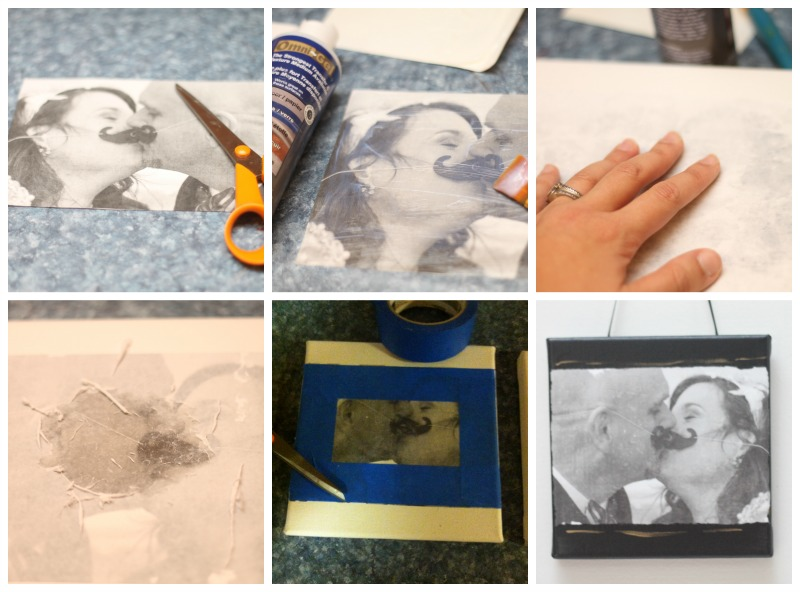 DIY wedding photo canvas how to