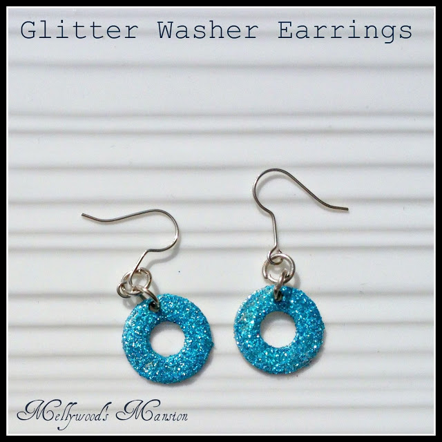 Glitter Washer earrings