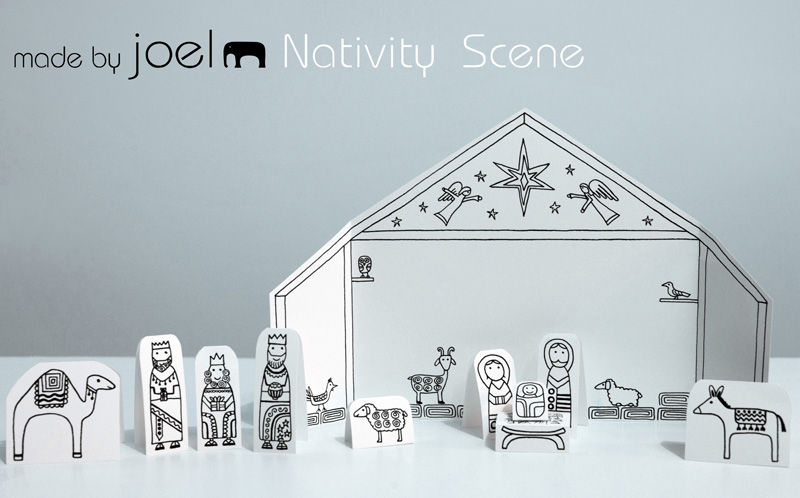 33 nativity crafts for christmas small things made by joel paper city nativity scene 1 solutioingenieria Gallery