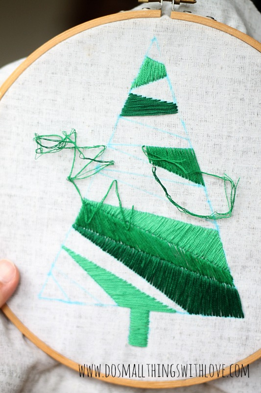 Christmas Tree Pillow Tutorial The 40th AVENUE Magnificent How To Make A Satin Stitch On A Sewing Machine