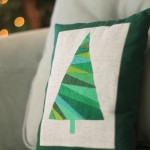 Satin stitch Christmas Tree Pillow 2