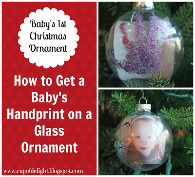 Baby Ornament Le Handprint