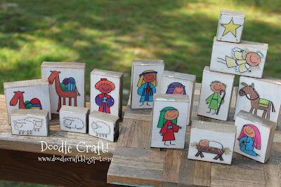 nativity set kids project crafts christmas blocks