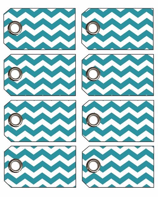 eyelet tags blue chevron freebies printables free