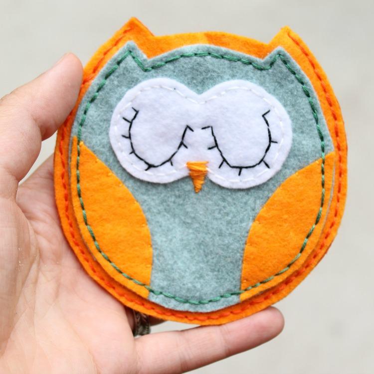 felt owl pouch 2