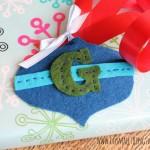 ornament shaped felt gift tag 2