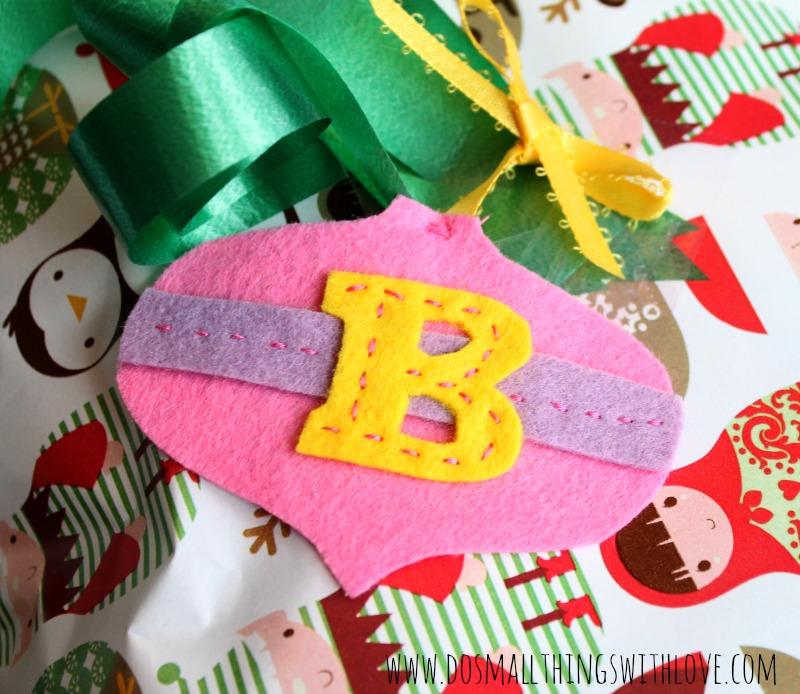 ornament shaped felt gift tag 3