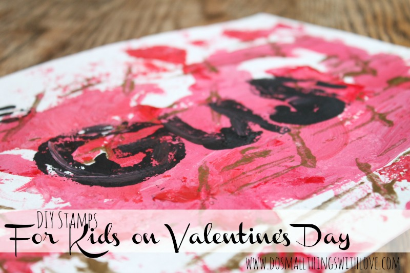 DIY stamps for kids on Valentines day