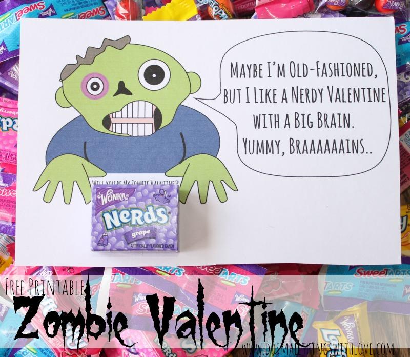 Free Printable Zombie Valentine