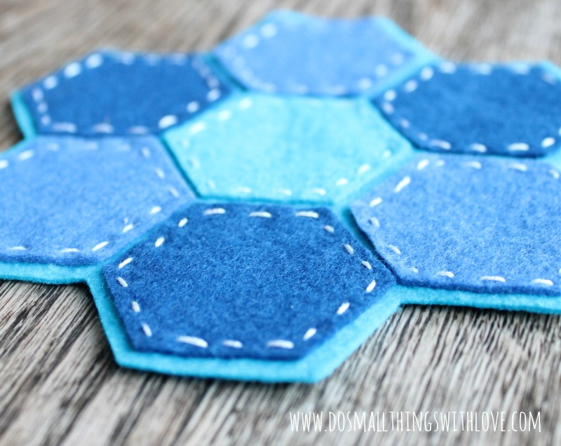 felt hexagon coaster 2
