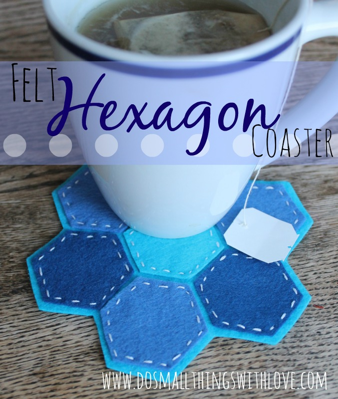 felt hexagon coaster