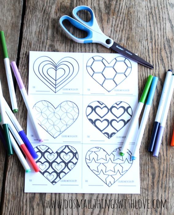 free printable coloring valentines