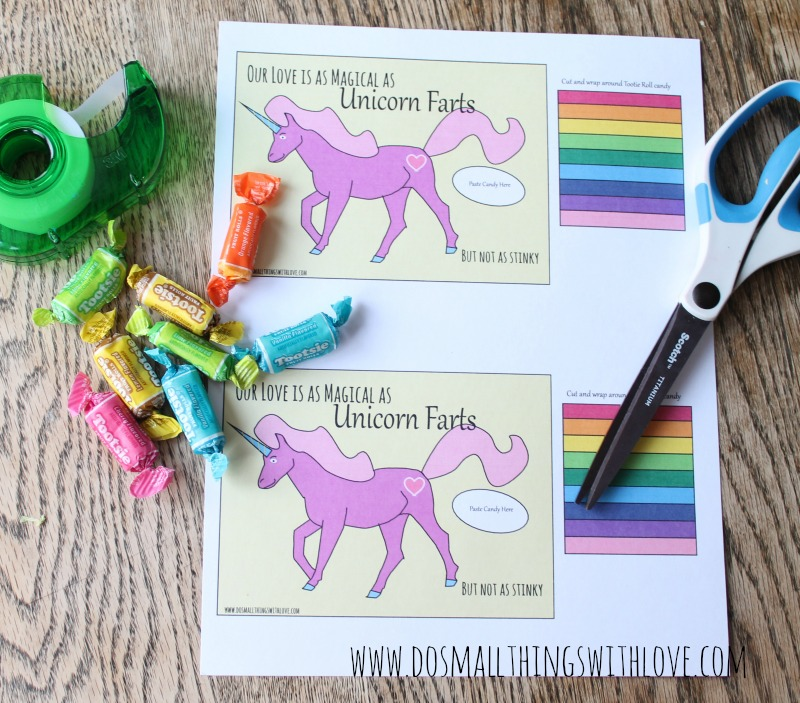 free printable unicorn valentine fart