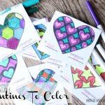 free printable valentines to color