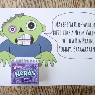 Free Printable Zombie Valentine #MyFavoriteBloggers