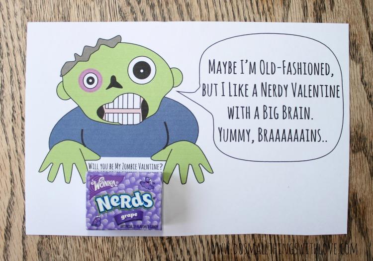 hilarious zombie valentine--free printable