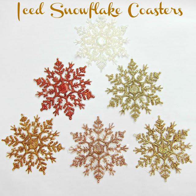 iced snowflake coasters