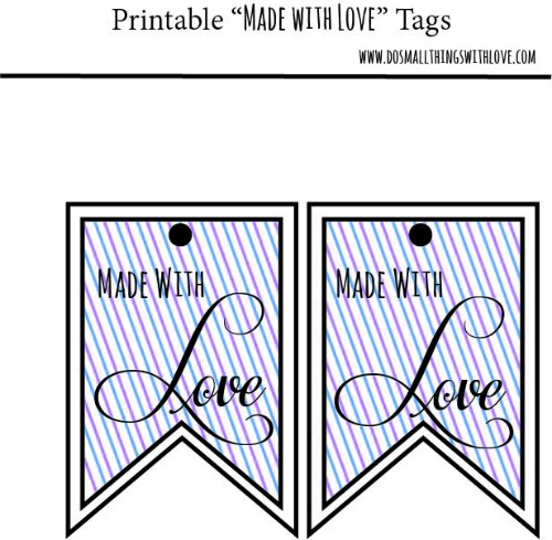 Made with love tags printable image
